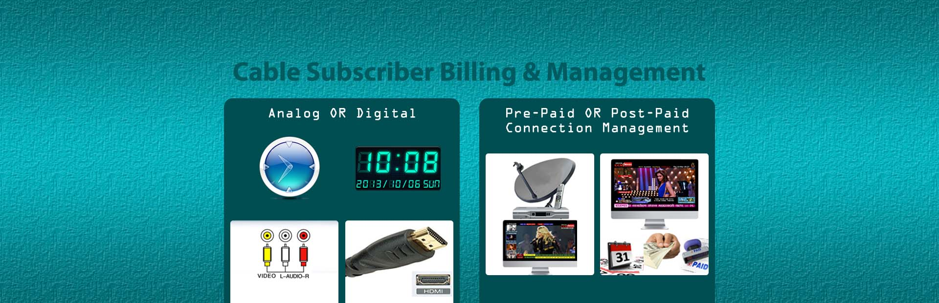Subscriber management system for cable industry - Subscriber
